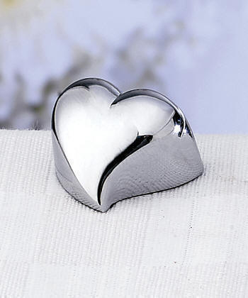 contemporary design heart place card holders