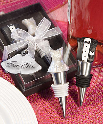 Bride and Groom Wine Stopper Set