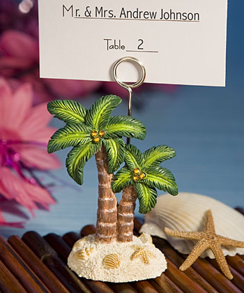 <i>Ocean Breezes Collection</i> Palm Tree Place Card Holders